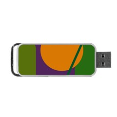 Green And Orange Geometric Design Portable Usb Flash (one Side) by Valentinaart
