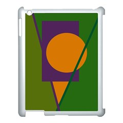 Green And Orange Geometric Design Apple Ipad 3/4 Case (white) by Valentinaart