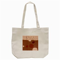 Brown Abstract Design Tote Bag (cream) by Valentinaart