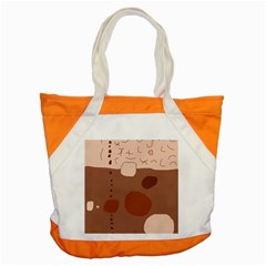 Brown Abstract Design Accent Tote Bag