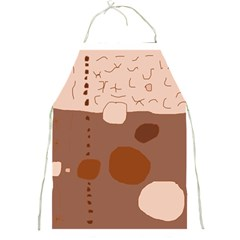 Brown Abstract Design Full Print Aprons by Valentinaart
