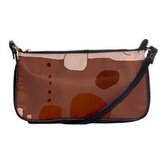 Brown Abstract Design Shoulder Clutch Bags by Valentinaart
