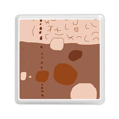 Brown Abstract Design Memory Card Reader (square)  by Valentinaart