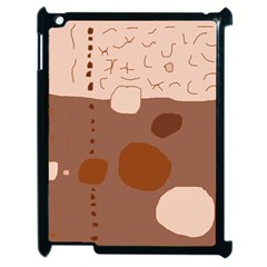 Brown Abstract Design Apple Ipad 2 Case (black) by Valentinaart