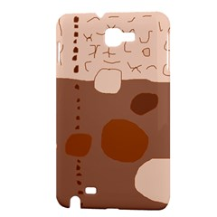 Brown abstract design Samsung Galaxy Note 1 Hardshell Case by Valentinaart