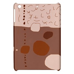 Brown Abstract Design Apple Ipad Mini Hardshell Case by Valentinaart