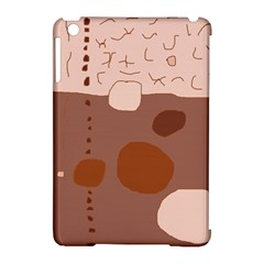Brown abstract design Apple iPad Mini Hardshell Case (Compatible with Smart Cover) by Valentinaart