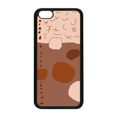Brown Abstract Design Apple Iphone 5c Seamless Case (black) by Valentinaart