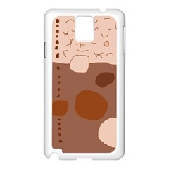 Brown Abstract Design Samsung Galaxy Note 3 N9005 Case (white) by Valentinaart