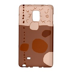 Brown Abstract Design Galaxy Note Edge by Valentinaart