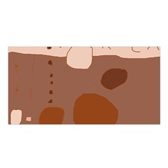 Brown Abstract Design Satin Shawl by Valentinaart
