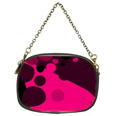 Pink dots Chain Purses (One Side)  by Valentinaart