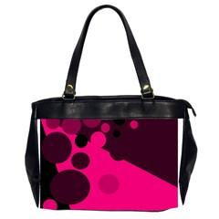 Pink Dots Office Handbags (2 Sides)