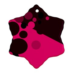 Pink Dots Ornament (snowflake)  by Valentinaart