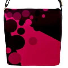 Pink Dots Flap Messenger Bag (s) by Valentinaart