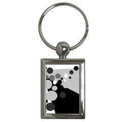 Gray Decorative Dots Key Chains (rectangle)  by Valentinaart