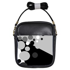 Gray Decorative Dots Girls Sling Bags by Valentinaart