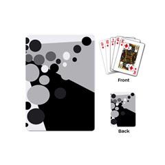 Gray Decorative Dots Playing Cards (mini)  by Valentinaart