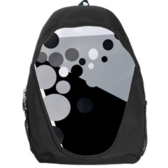 Gray Decorative Dots Backpack Bag by Valentinaart