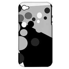 Gray Decorative Dots Apple Iphone 4/4s Hardshell Case (pc+silicone) by Valentinaart