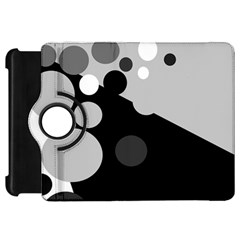 Gray Decorative Dots Kindle Fire Hd Flip 360 Case by Valentinaart