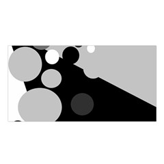 Gray Decorative Dots Satin Shawl by Valentinaart
