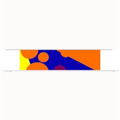 Blue And Orange Dots Small Bar Mats by Valentinaart