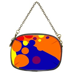 Blue And Orange Dots Chain Purses (two Sides)  by Valentinaart