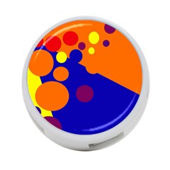 Blue And Orange Dots 4 Port Usb Hub (one Side) by Valentinaart