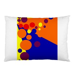 Blue And Orange Dots Pillow Case (two Sides) by Valentinaart