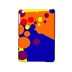 Blue And Orange Dots Ipad Mini 2 Hardshell Cases by Valentinaart