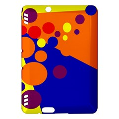 Blue and orange dots Kindle Fire HDX Hardshell Case by Valentinaart