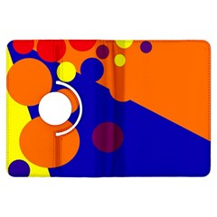 Blue and orange dots Kindle Fire HDX Flip 360 Case by Valentinaart