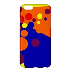 Blue And Orange Dots Apple Iphone 6 Plus/6s Plus Hardshell Case by Valentinaart