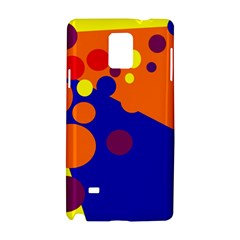Blue And Orange Dots Samsung Galaxy Note 4 Hardshell Case by Valentinaart