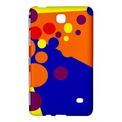 Blue And Orange Dots Samsung Galaxy Tab 4 (8 ) Hardshell Case  by Valentinaart