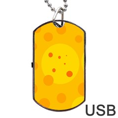 Abstract Sun Dog Tag Usb Flash (one Side) by Valentinaart