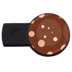 Brown Abstract Design Usb Flash Drive Round (4 Gb)