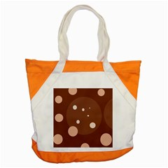 Brown Abstract Design Accent Tote Bag by Valentinaart