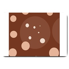 Brown Abstract Design Large Doormat  by Valentinaart