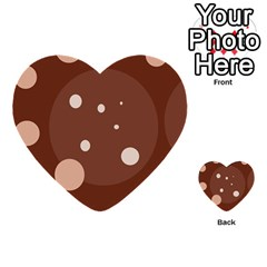 Brown Abstract Design Multi Purpose Cards (heart)  by Valentinaart