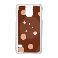 Brown Abstract Design Samsung Galaxy S5 Case (white) by Valentinaart