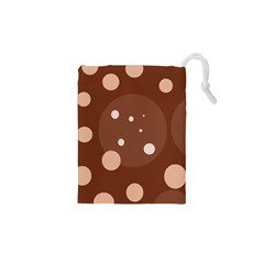 Brown Abstract Design Drawstring Pouches (xs)  by Valentinaart