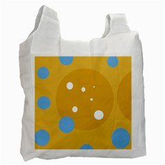Blue And Yellow Moon Recycle Bag (one Side) by Valentinaart