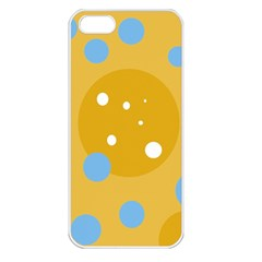 Blue and yellow moon Apple iPhone 5 Seamless Case (White)