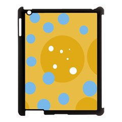 Blue And Yellow Moon Apple Ipad 3/4 Case (black) by Valentinaart