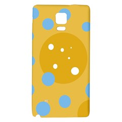 Blue And Yellow Moon Galaxy Note 4 Back Case by Valentinaart