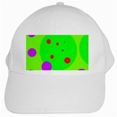 Green and purple dots White Cap