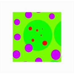 Green And Purple Dots Collage Prints by Valentinaart