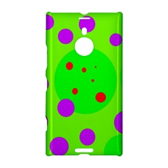 Green And Purple Dots Nokia Lumia 1520 by Valentinaart